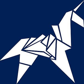Unicorn Origami by LightningDes