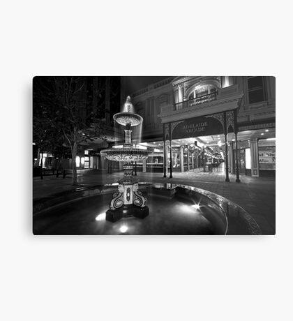 Rundle Mall Fountain Metal Print