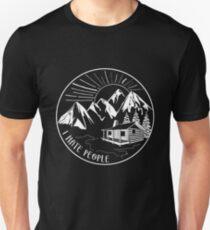 I Hate People Funny Hiking Design Unisex T-Shirt
