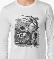 Alice and the Cheshire Cat, or A Very Merry Halloween in Wonderland Long Sleeve T-Shirt
