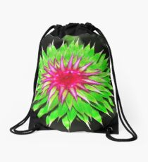 Purple Thistle Flower Drawstring Bag