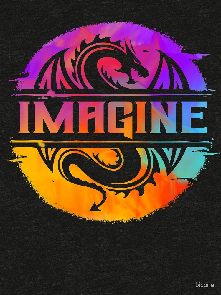 IMAGINE el dragón gráfico colorido de la acuarela de bicone