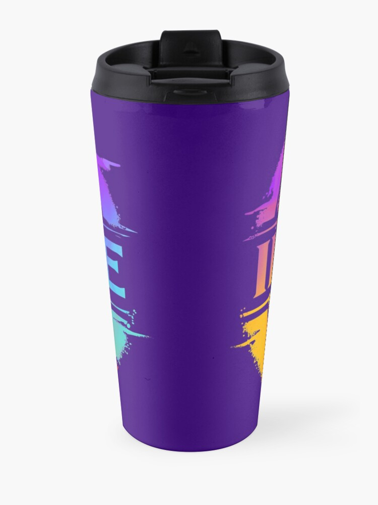Alternate view of IMAGINE Colorful Watercolour Graphic Dragon  Travel Mug
