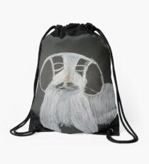 Black and White Puppy - George Drawstring Bag