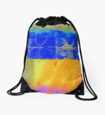 Bright Blue Paves the Way Drawstring Bag