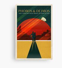 Phobos and Deimos Canvas Print