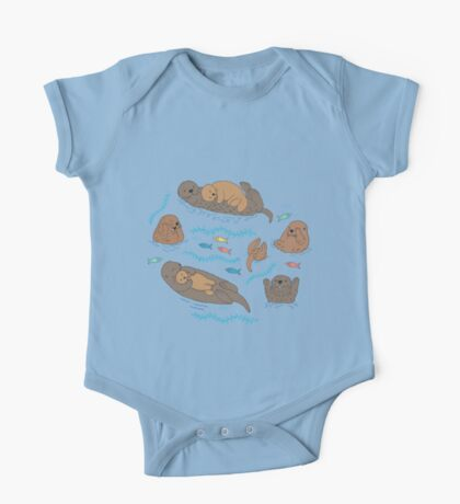 Sea Otters - cute animal pattern by Cecca Designs Kids Clothes