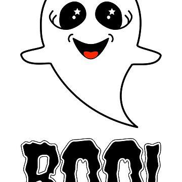 Boo!  Cute Little Halloween Ghost by AmandaMLucas