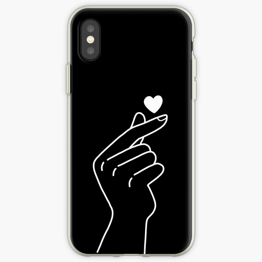 Ästhetisches koreanisches Herz iPhone-Hülle & Cover
