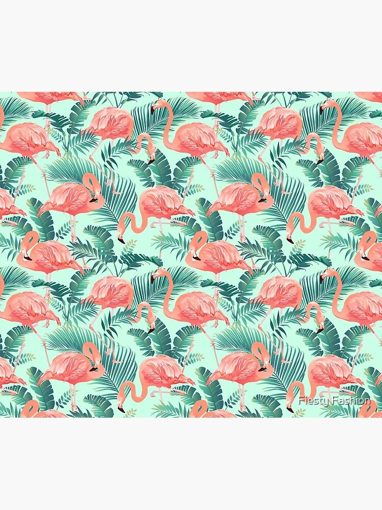 Flamingo Bird Tropical Palm Pattern by FurryFashion
