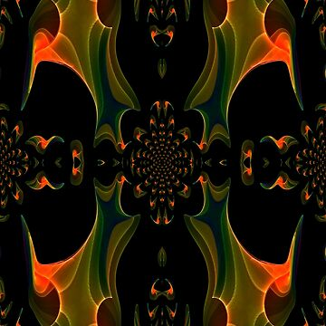 A Green & Gold Abstract Pattern created in chaoscope & gimp by ZipaC
