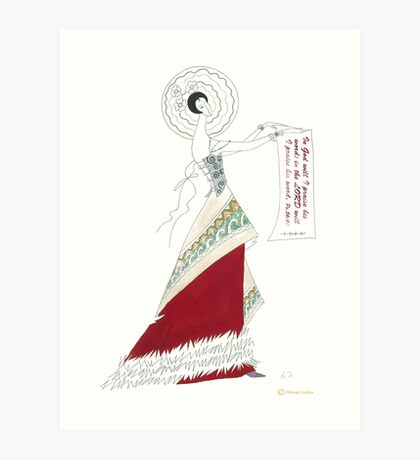RED skirt. Art Print
