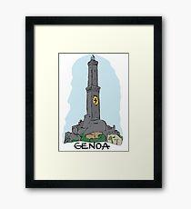 Genoa city in Italy Framed Print