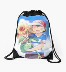 Pokémon Ash and Sunflowers Drawstring Bag