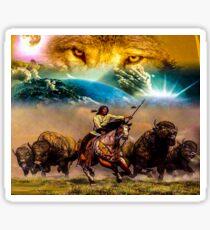 642 native american Sticker