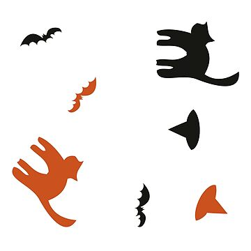 A cat, hat and a bat halloween design by lizmaydesigns