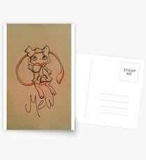 Pokémon Mew with Sweatshirt Postcards