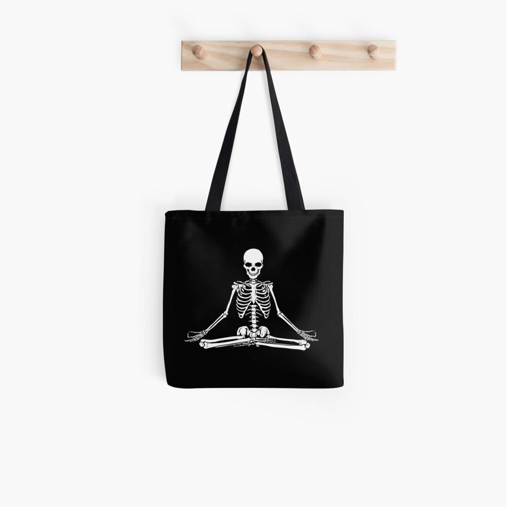 Esqueleto Meditando Bolsa de tela