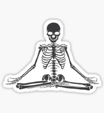 Pegatina Esqueleto Meditando