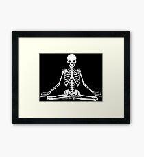 Squelette méditant Impression encadrée