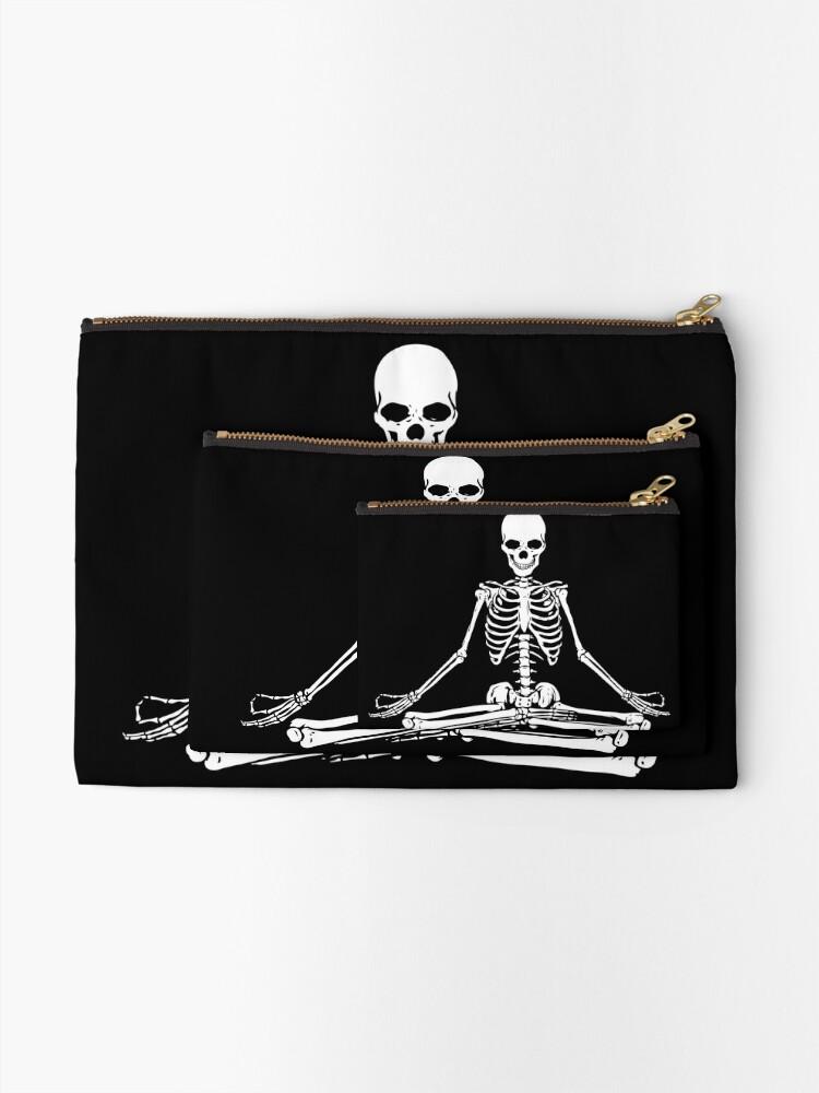 Vista alternativa de Bolsos de mano Esqueleto Meditando