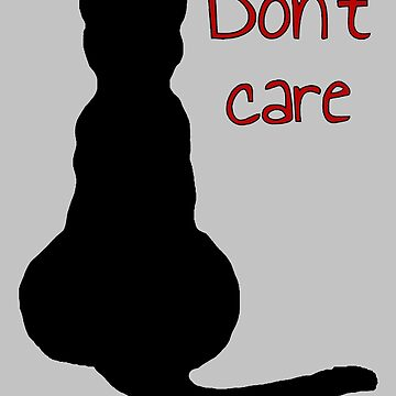 Don't Care Selfish Black Cat Cartoon Vector by taiche