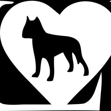 I love my dog logo in white by jonres