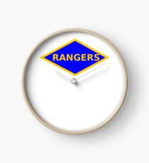 WWII RANGERS PATCH Clock