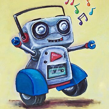 Boomer the Dancing Robot by justafriend