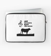 Music Mnemonic - All Cows Eat Grass Laptop Sleeve