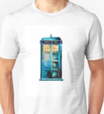 TARDIS White Background Unisex T-Shirt