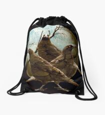 Full Moon In Tasmania Drawstring Bag