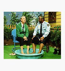 Herr Rogers und Officer Clemmons Color Fotodruck