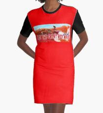 Ride The Great Red Wave Graphic T-Shirt Dress