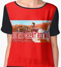 Ride The Great Red Wave Chiffon Top