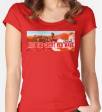 Ride The Great Red Wave Women's Fitted Scoop T-Shirt
