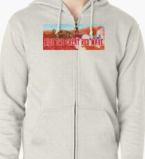 Ride The Great Red Wave Zipped Hoodie