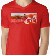 Ride The Great Red Wave Men's V-Neck T-Shirt