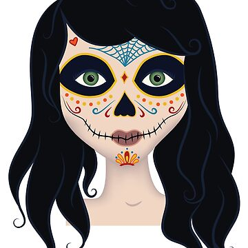 Day of the Dead Girl Illustration by graphicloveshop