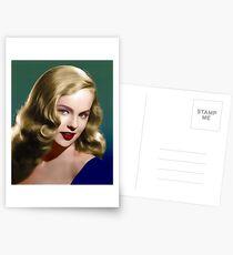 Peggy Cummins, Vintage Hollywood Schauspielerin Postkarten