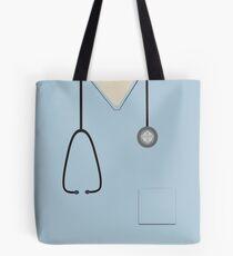 Medical Scrubs Light Blue Tote Bag