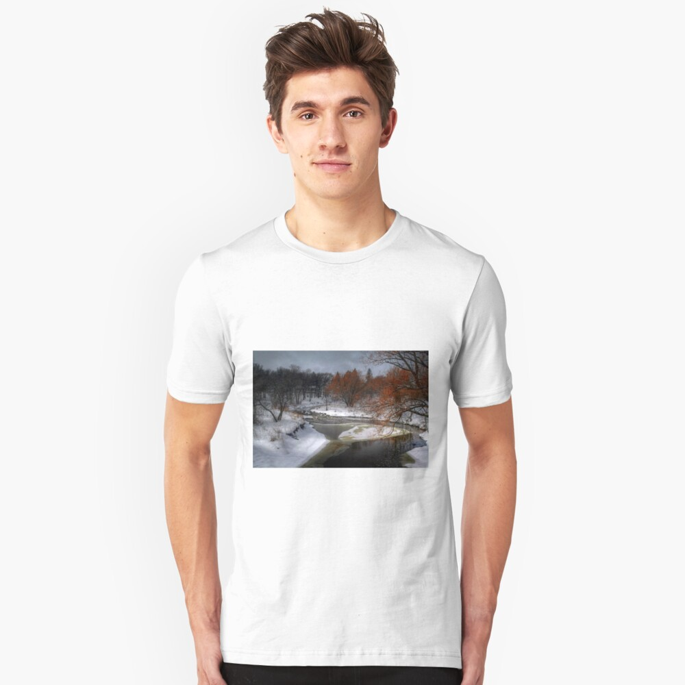 A River Runs Through It - HDR  Unisex T-Shirt Front