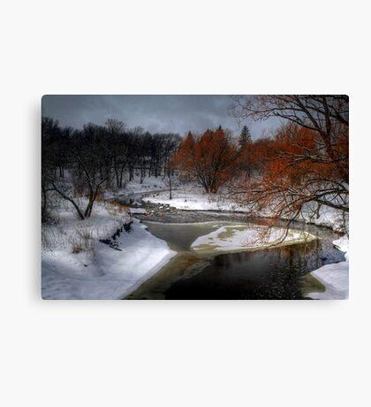 A River Runs Through It - HDR  Canvas Print