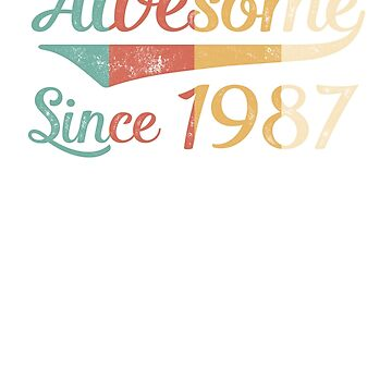 Awesome Since 1987 Vintage Retro by funny-gift