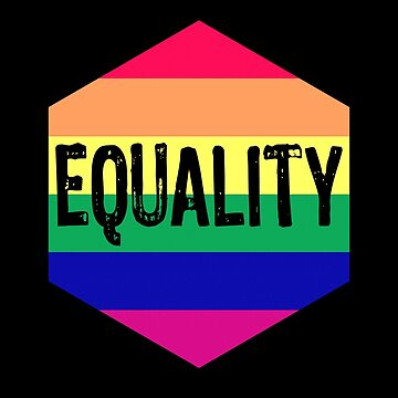 LGBT Equality Hexagon by Sleazoid