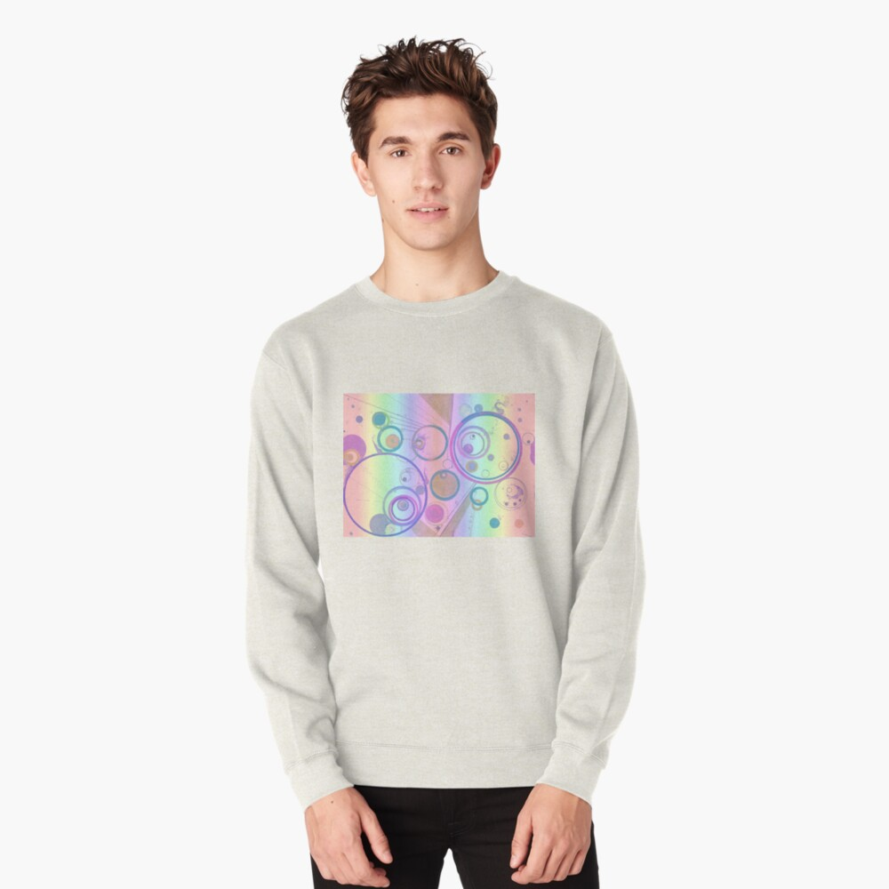 Odd encapsulations pastel psychedelic design for clothing and decor Pullover Sweatshirt