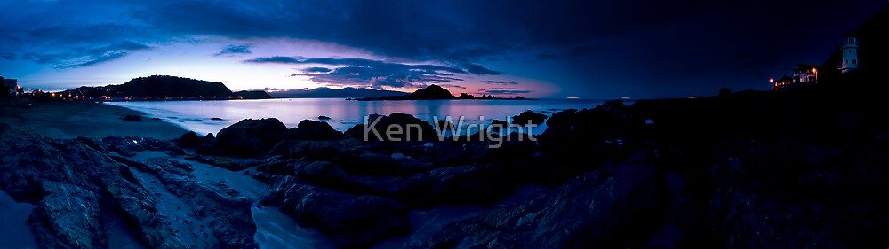220º Island Bay Dawn  by Ken Wright