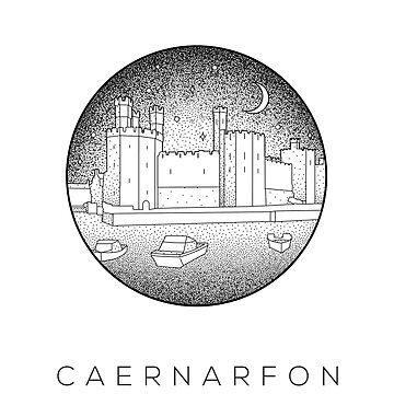 Caernarfon Castle - Gwynedd Dotwork by typelab