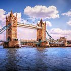 SPANNING THE RIVER THAMES by Peter Sutton