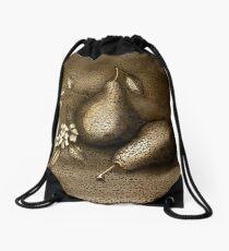 Copper Pears Drawstring Bag